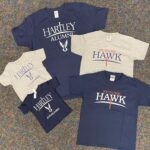 Hartley alumni and Future Hawk t-shirts (available in 6mth, 12mth, 18 mth, youth sm-xl)