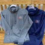 BH quarter-zip sport pullover (available in men's and women's style)(availability of colors and sizes fluctuates)