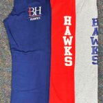 Sweatpants (BH Hawks is newer style, Hawks on leg will be phased out on reorders)